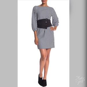 Tobi Black & White Gingham Shift Dress- ChicEwe